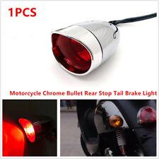 1PCS Motorcycle Scooter Bike Chrome Bullet Rear Stop Tail Brake Light Lamp Bulb