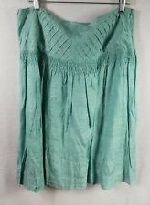Dorothee Bis Skirt Size 14 Silk Rayon Mint Green Beaded Waistband Floral