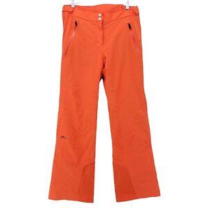 $595 KJUS Women's Formula Dermizax Thermo Core Orange Ski Pants 40L