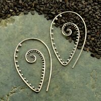 Gold Vermeil or .925 Sterling Silver Boho Bohemian Spiral Hoops Tribal Earrings