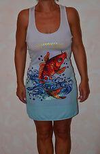 jolie robe grise et bleu  ED HARDY fish taille S ** NEUVE ÉTIQUETTE **