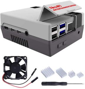 Retro Gaming Nes4Pi Case for Raspberry Pi 4 Model B Raspberry Pi 4 Case with Fan