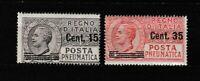 S35631 Italia 1927 MNH Nuevo Correo Neumática 2v Sajón 10/11