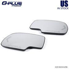 Mirror Glass Heated w/ Turn Signal Rh & Lh Side For Chevy Gmc Cadillac 03-07 (Fits: Cadillac)