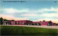 Vintage Postcard - Kerbs Memorial Hospital St Albans Vermont VT Linen #930