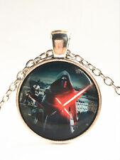New Star Wars Warrior Cabochon Tibetan silver Glass Chain Pendant Necklace~#8