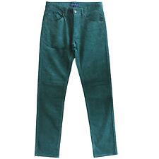 New Men's Dark Green Slim Fit Corduroy Pants Jeans Size 30 31 32 33 34 35 36