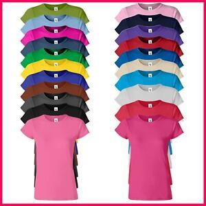 Gildan Softstyle Ladies T-Shirt Skinny Fit Plain Short Sleeve Blank Top Tee
