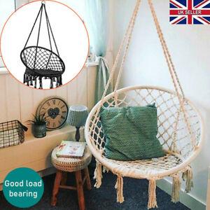 Hanging hammock Rope Swing Chair Macrame Hammock Seat Outdoor & Indoor Garden UK