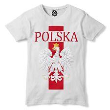 Polska Bird Eagle Band T Shirt Football Poland Polski White Tshirt Top Mens 240