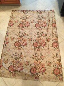 "Ralph Lauren Guinevere Floral Shower Curtain 73"" Galahad Aragon Medieval Sateen"