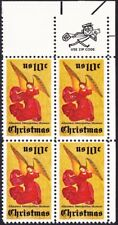 US - 1974 - 10 Cents Christmas Angel Issue Zip Block #1550 Mint NH Fine - VF