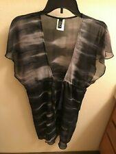 BECCA  Women's Tunic Swimsuit  Black/Gray Size M  100% Polyester