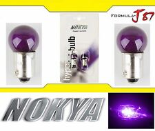 Nokya Light Bulb BA9s G14 Purple 8W Nok5076 Interior Signal Corner Gauge Panel