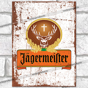 JAGERMEISTER Metal Signs Vintage Retro Man Cave Wall Plaque Garage Shed Tin Sign