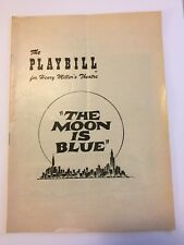 The Moon Is Blue Broadway Playbill 1952 Donald Cook Janet Riley Barry Nelson