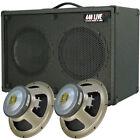 2x10 Guitar Spkr Cabinet W/CELESTION G10 Speakers Charcoal black Tolex G2X10ST