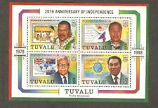 Tuvalu 1978 20th Anniv Flags Independence Telecommunications Satellite Dish