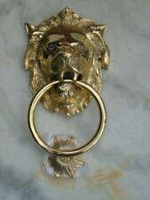 heurtoir , frappe porte en laiton ,sonnette , nouveau !!! type lion .