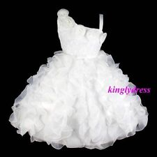 NEW Flower Girl Pageant Wedding Bridesmaid Dress Cream White Ivory SZ 8-9 Z366D