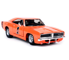 Maisto 1:25 Harley Davidson Custom 1969 Dodge Charger R/T Metal Model Car Toy