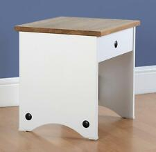 CORONA DRESSING TABLE SET/TABLE/STOOL IN WHITE & PINE100-105-012 T/100-106-011S