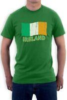 Ireland Flag T-Shirt For St. Patrick's Day Green Irish Patty's Lucky Crewneck Te
