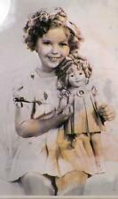 Shirley Temple & Doll Print from Photo in Frame Reproduction