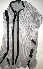 633a66acec Womens DESIGNER Natori Long Robe XS NW Silver Gray Black Empress Silky Satin