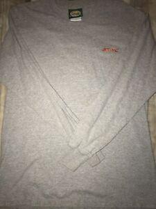 STIHL Chainsaws Long Sleeve Shirt CABELA'S Grey Men's MEDIUM Sewn Logo