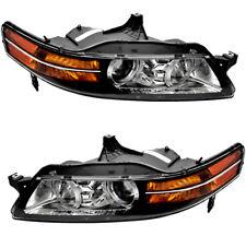 Halogen Headlight Headlights Headlamps NEW Pair Set for 2007-2008 Acura TL 3.2L