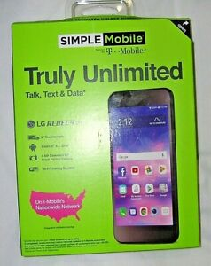 Simple Mobile LG Rebel 4 Prepaid Cell Phone No Credit Check Smartphone LML211BL