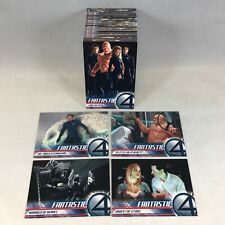 MARVEL FANTASTIC 4 FOUR 1st Movie Complete Card Set Upper Deck 2005 JESSICA ALBA