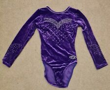 The Zone Z Gorgeous Long sleeved Purple Leotard Size 28 Girls NEVER WORN
