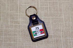 Alfa Romeo 75 Milano Keyring - Leatherette & Chrome Keyfob
