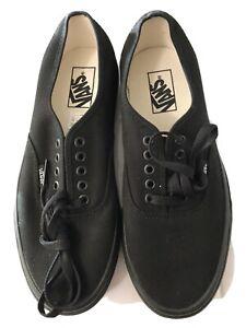 Vans Authentic Shoes Canvas Classic Lace-up All Black Size Men's: 8