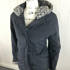 ROXY Quiksilver Zip & Button Up Gray Snow Ski Snowboarding Jacket Women's Size M