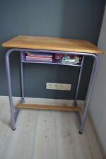 Bureau Enfant Pupitre banc d'école en bois et métal