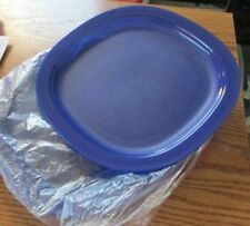 NEW TUPPERWARE 9 1/2 INCH SQUARE BLUE MICROWAVE REHEATABLE PLATES