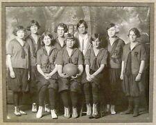 "Girls High School Basketball Photo 1925  8"" x 10"" matted  NICE !!"