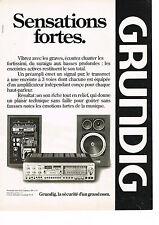 PUBLICITE ADVERTISING 034   1979   GRUNDIG    hi-fi  pré-ampli