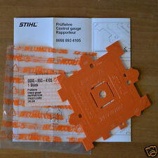 OEM Stihl Chainsaw Chain Template Measuring Pitch Gauge 0000 893 4105 Tracked
