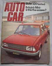 Autocar magazine 29 November 1975 featuring BMW road test, Innocent Mini