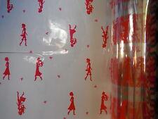 100 X 80cm De Ancho Cerise chicas calientes floristería Celofán de rollos de película envoltorio de regalo obstaculizar
