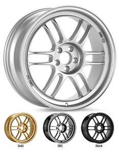"""ENKEI RPF1 17x9"""" Racing Wheel Wheels 5x114.3 ET22/35/45 F1 Silver"""