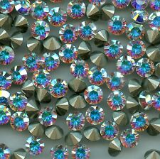 1028 SS30 CI *** 10 strass Swarovski fond conique SS30 (6,4mm) CRYSTAL AB F