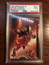 1993-94 Upper Deck Michael Jordan Behind The Glass (Foil) #G11 PSA 9 MINT Pop 45