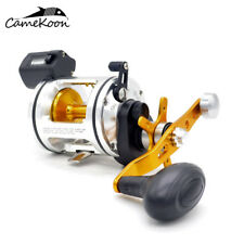 CAMEKOON Saltwater Fishing Reels With Line Counter Level Wind Drum Trolling Reel