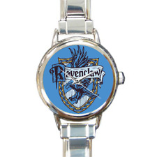 Ravenclaw House Italian Charm Link Bracelet Watch Harry Potter Fans