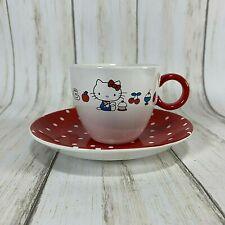 Sanrio Hello Kitty Tea Cup and Heart Saucer Set 2003 W/ Damaged Box